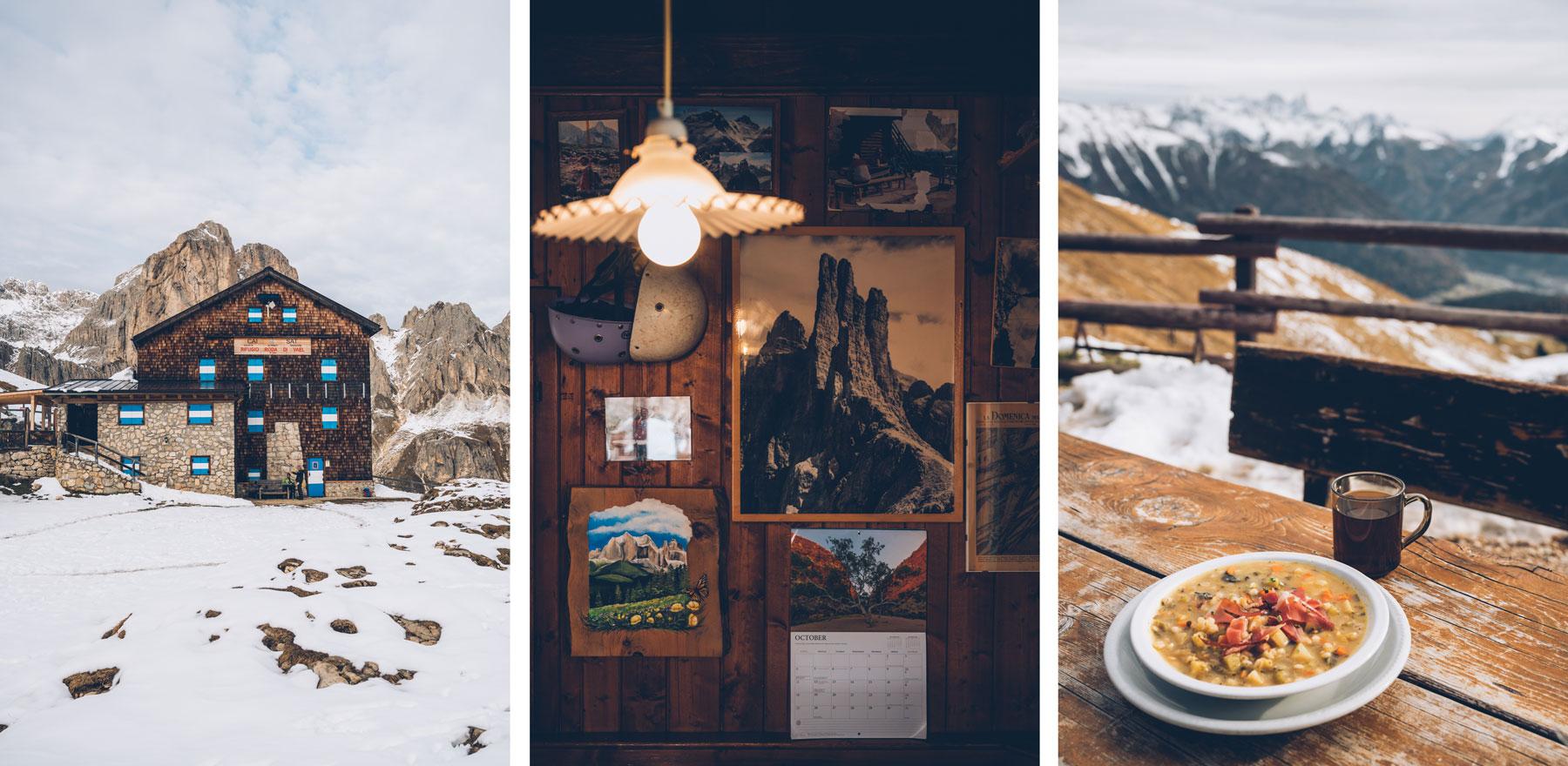 le refuge mythique des Dolomites, le Rotwandhütte