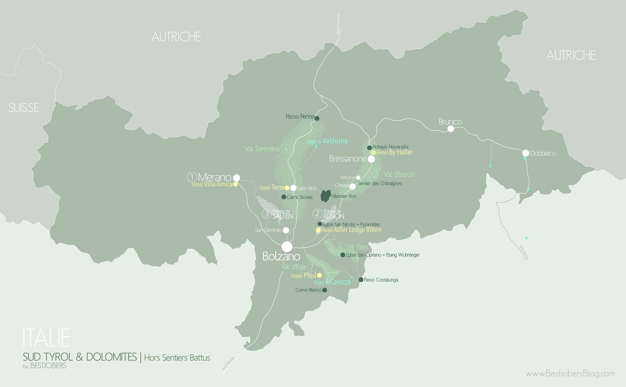 Carte Sud Tyrol/Dolomites