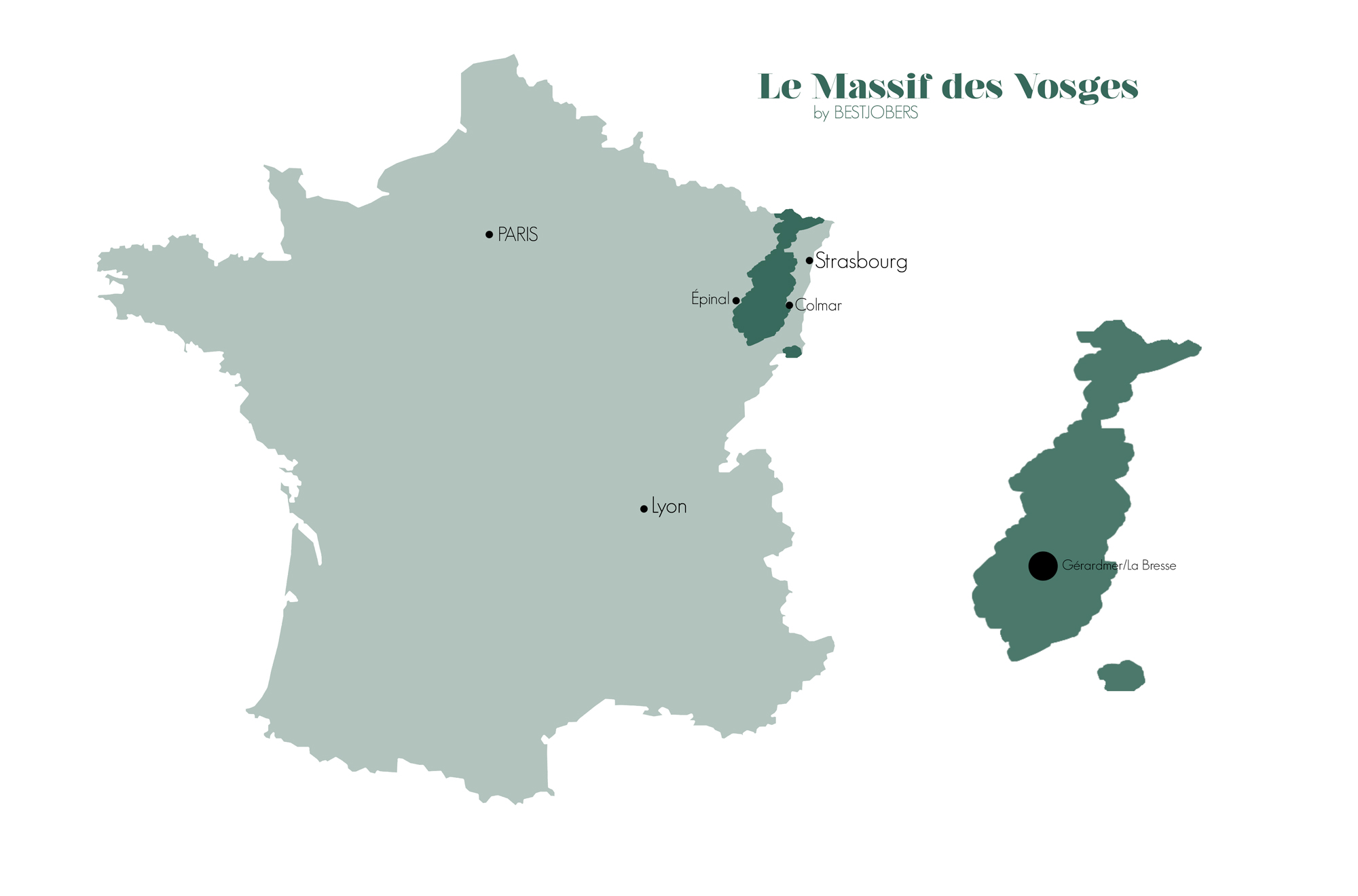 Carte Massif des Vosges, Bestjobers