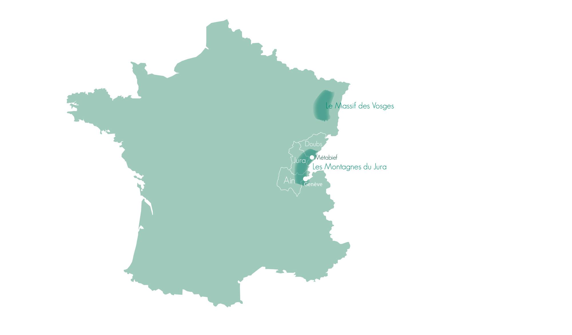 Métabief, Carte