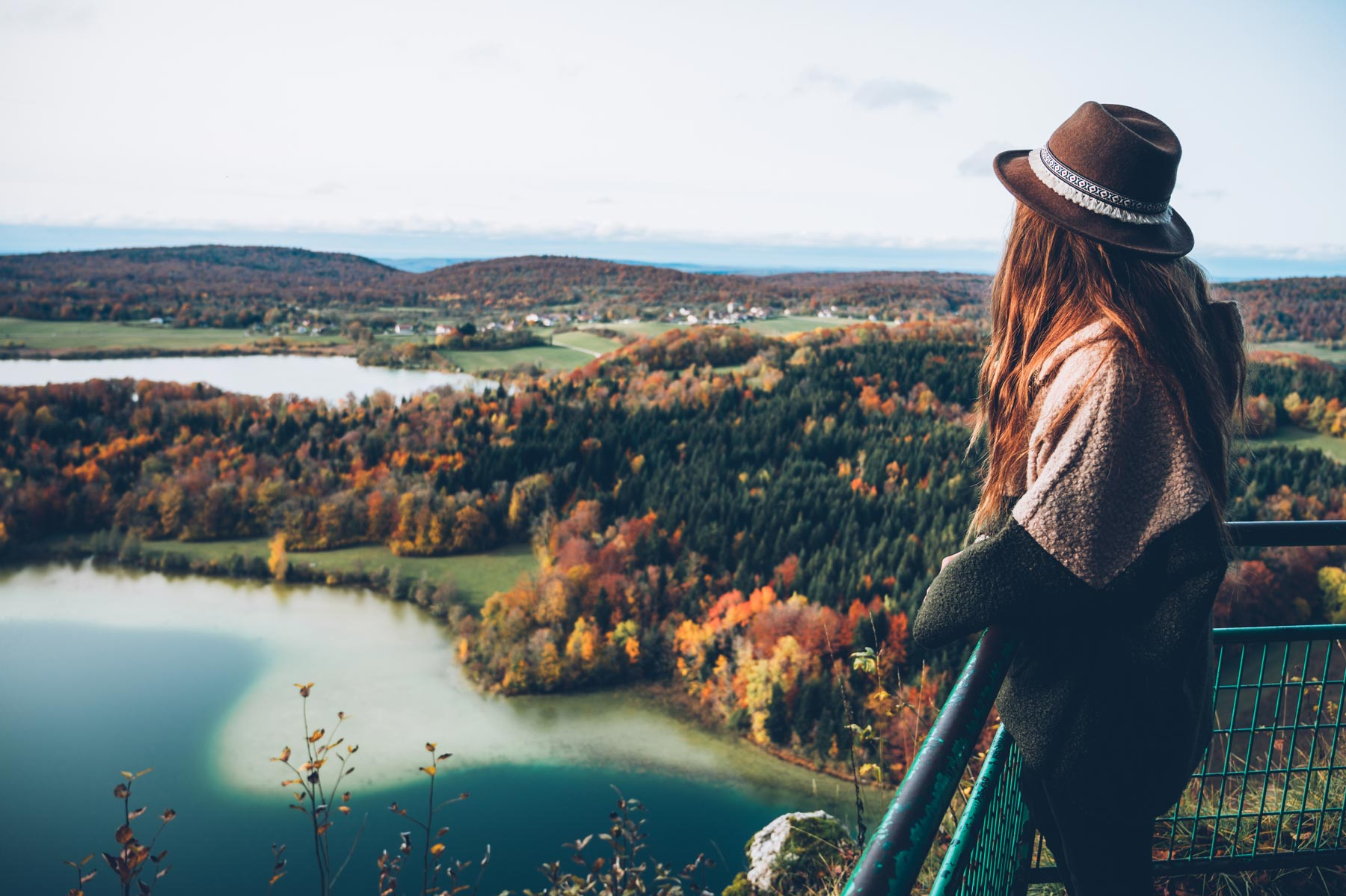 Belvedere des 4 lacs en automne, Jura