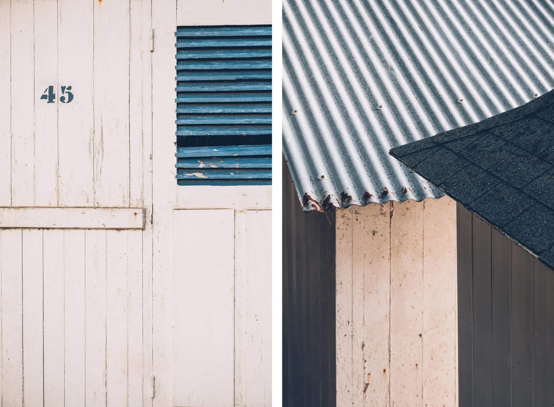 Détails, Cabines de plage, Noirmoutier