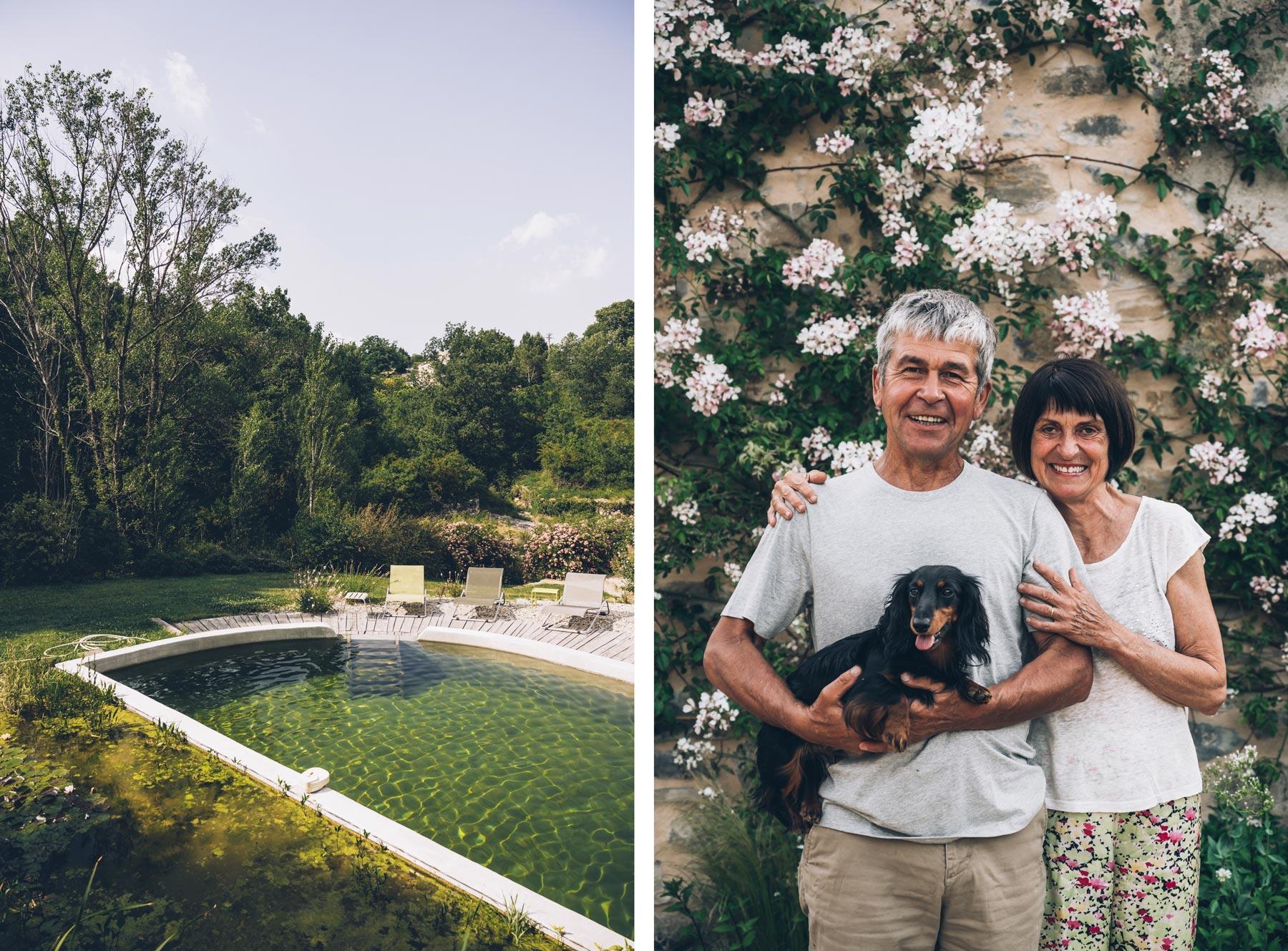 Annick et Michel, Mas de Saribou, Ardèche