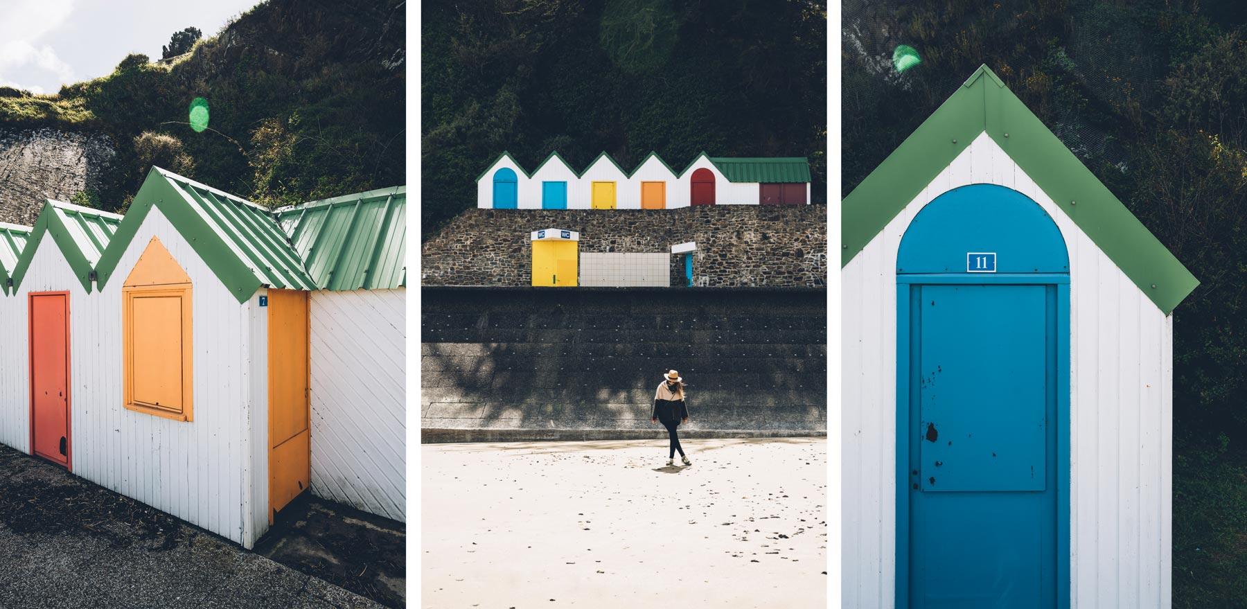 Cabines de Plage, Binic, Bretagne