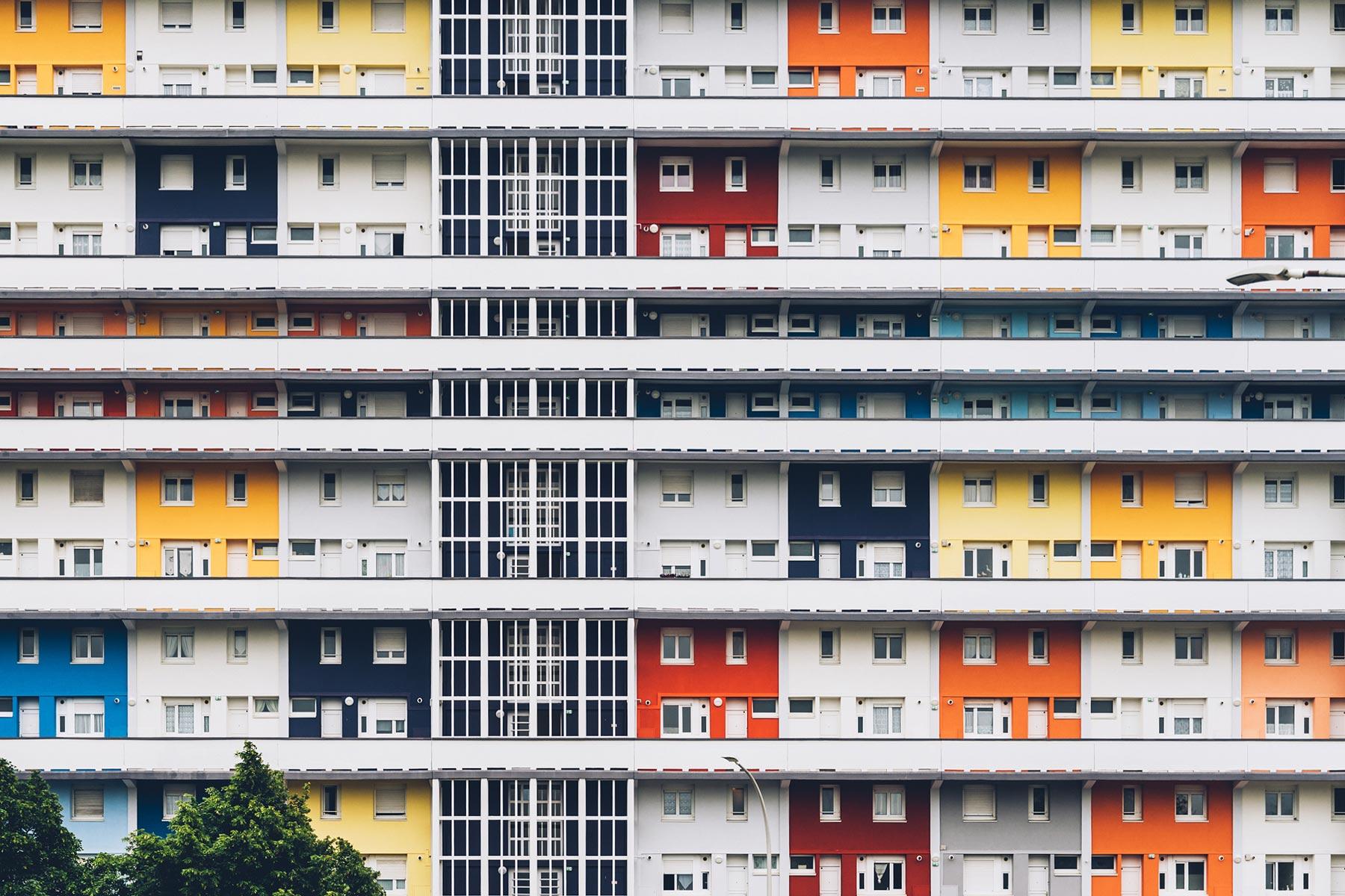 Immeuble coloré Lorient