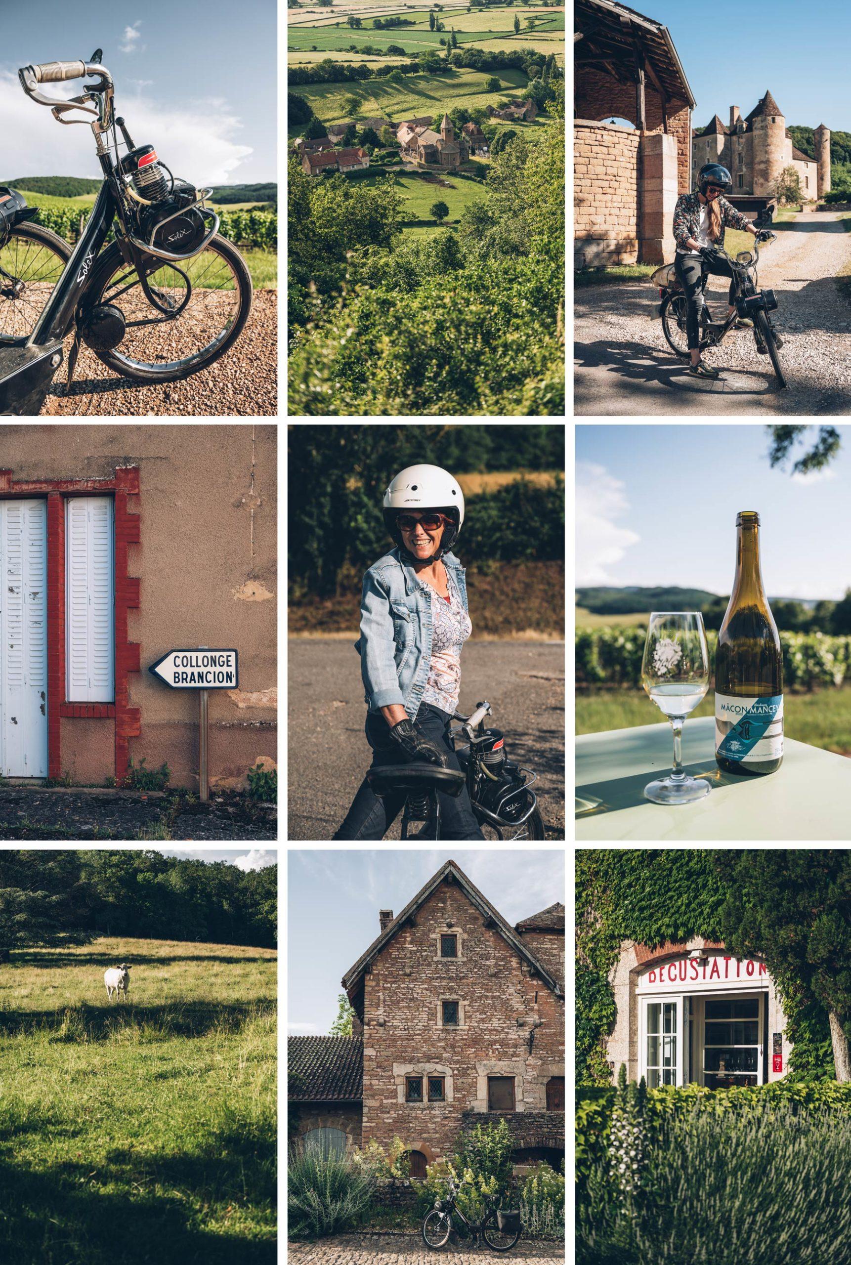 Solex Tour en Bourgogne, Tournus