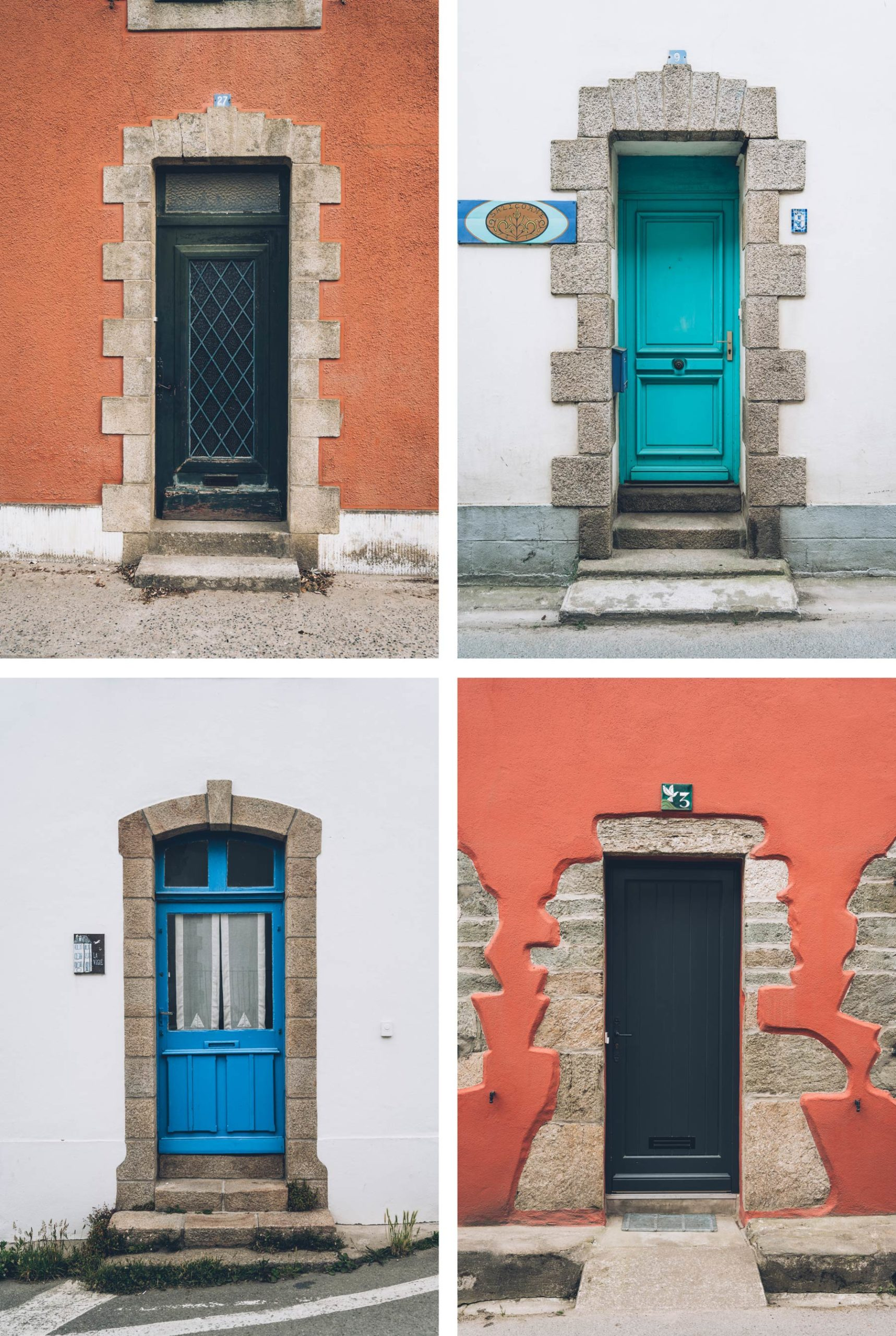 Portes colorées, Ile de groix