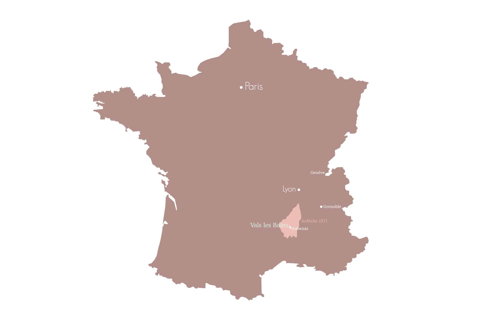 Carte Vals Les Bains