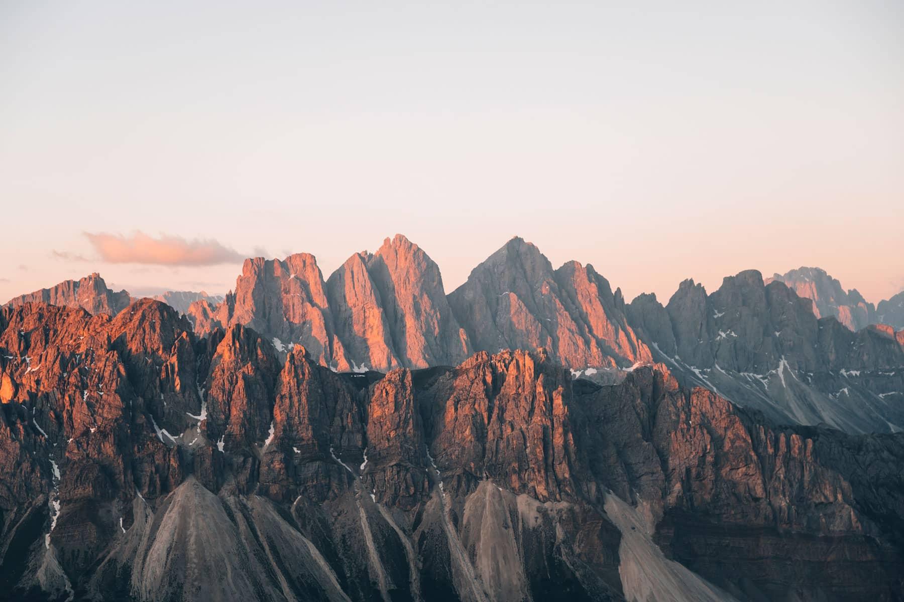 Vue dpuis le Monte Gabler, Dolomites