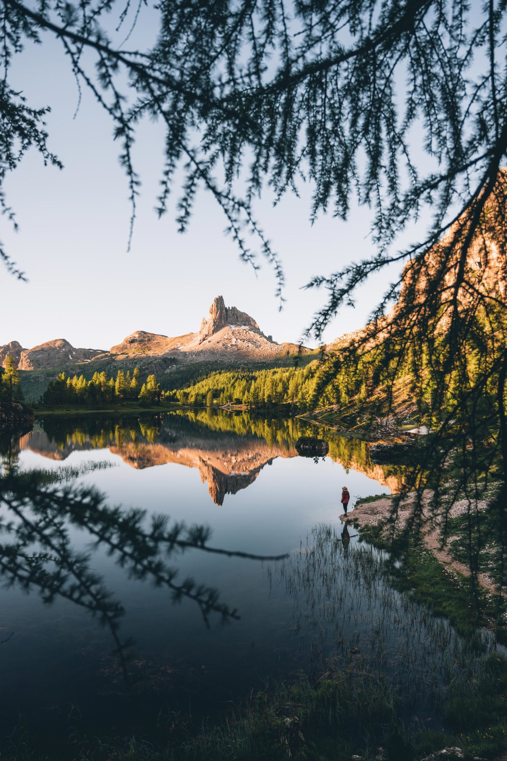 Lever de soleil Lago Federa