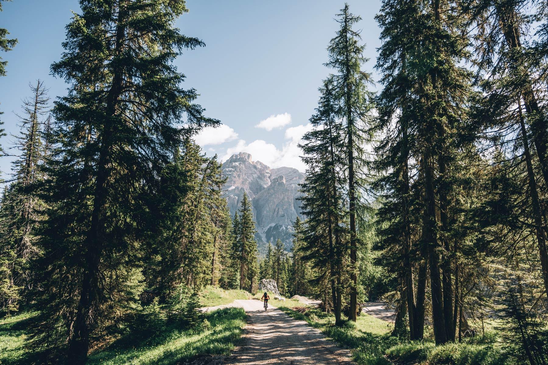 Vtt dans les Dolomites