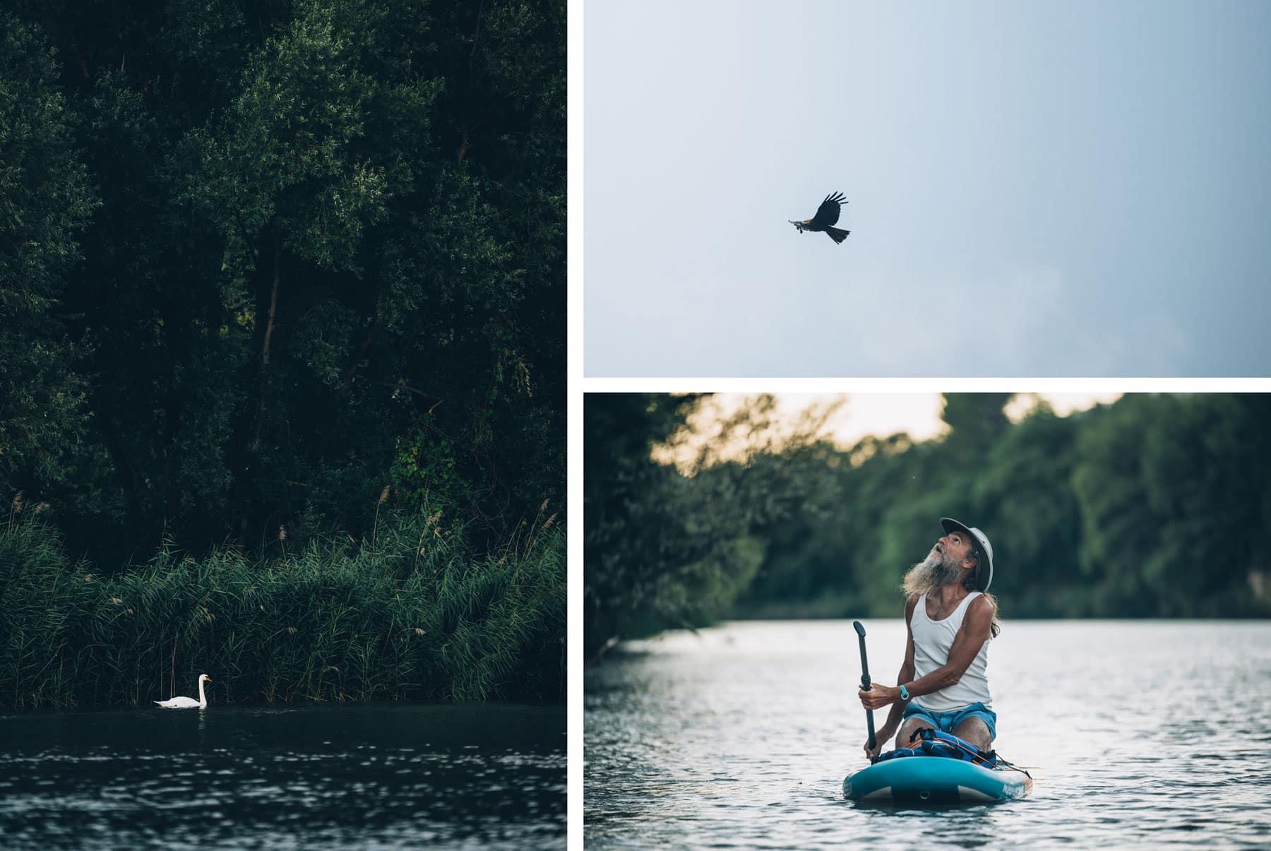 Paddle sur le barrage de la Durance
