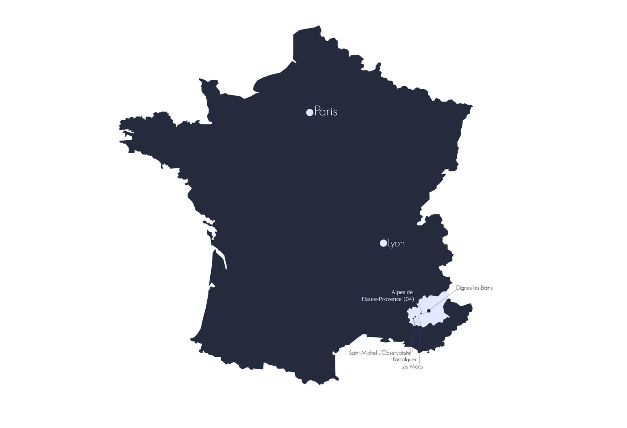Carte Haute Provence