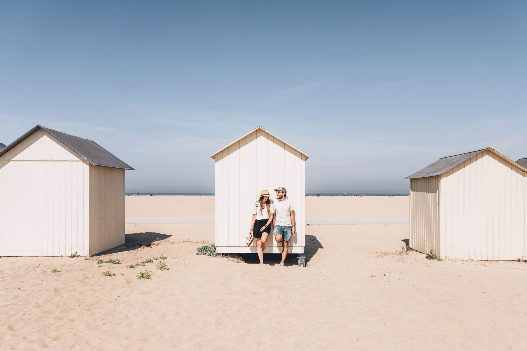 Bestjobers, Cabine de plage, Ouistreham, Normandie