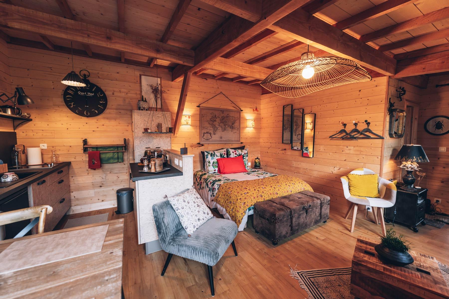 Cabane perchée en Mayenne
