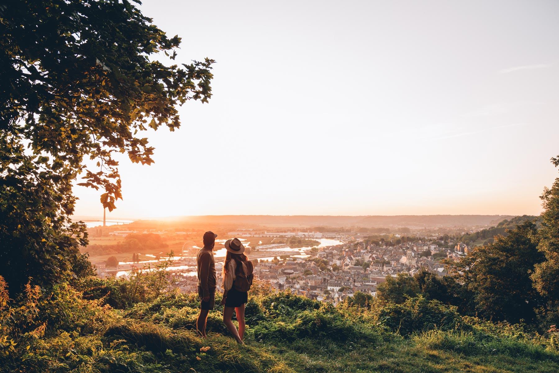Vue depuis le Mont joli, Honfleur
