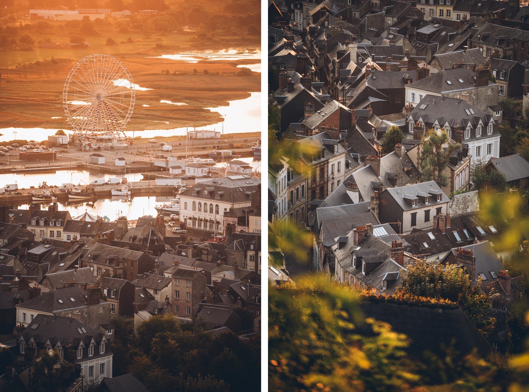 Vue depuis les hauteurs d'Honfleur
