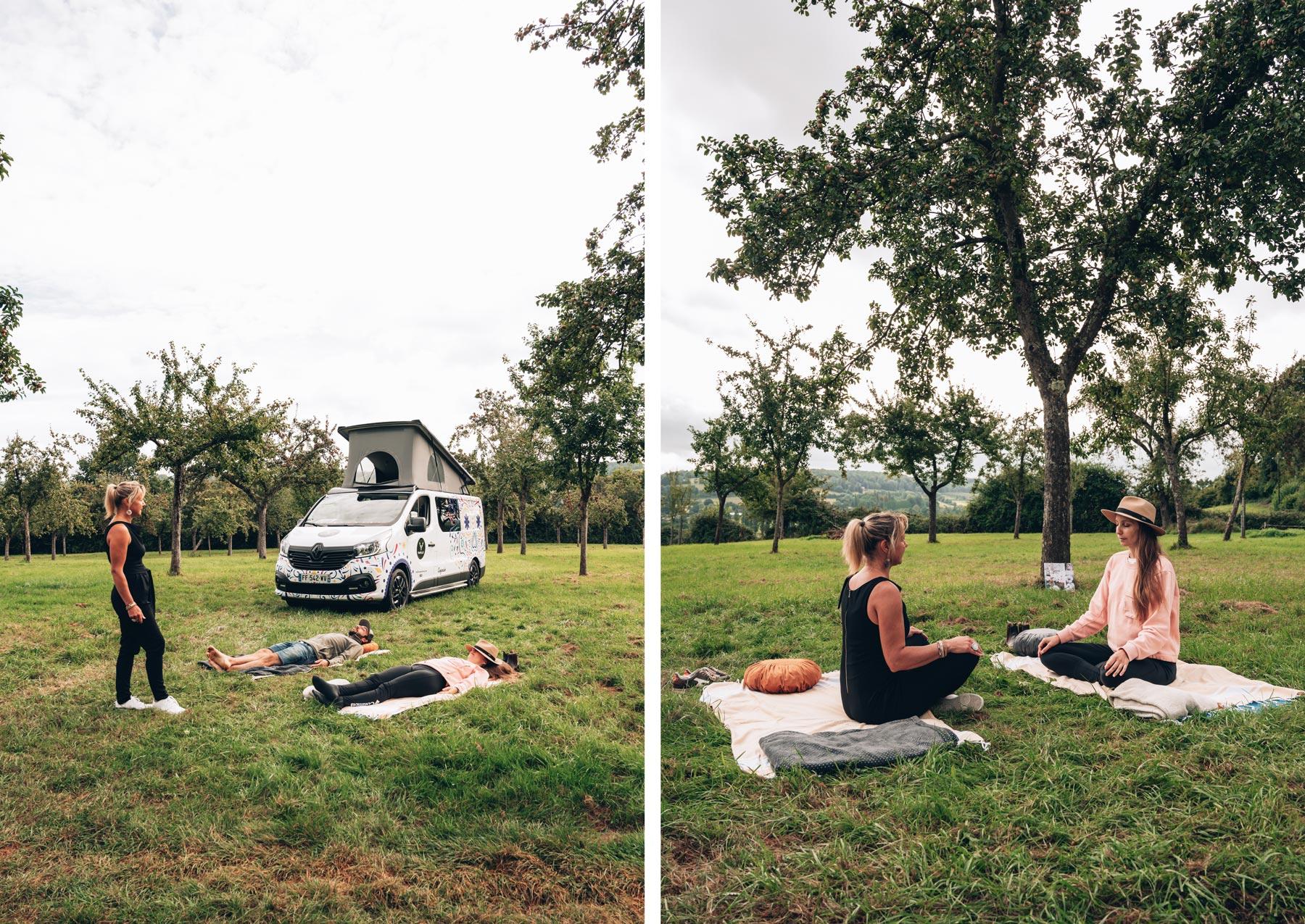 Relaxation au coeur des pommiers en Normandie